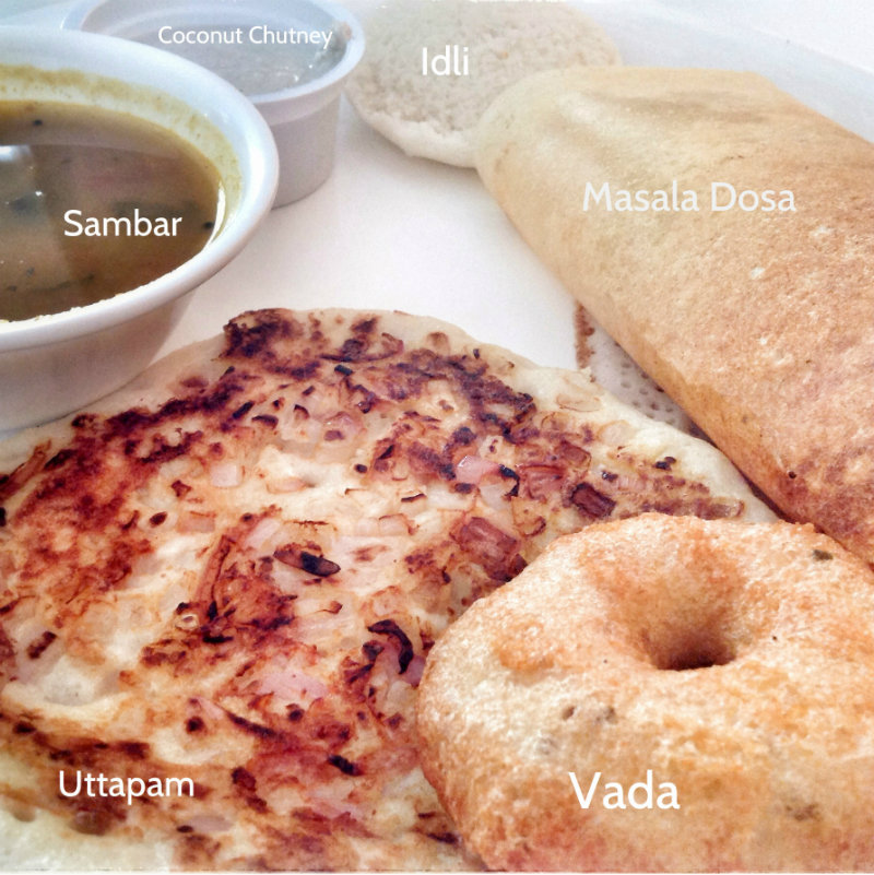 South Indian Breakfast platter DoinDubai