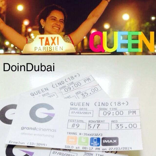 QUEEN BOLLYWOOD MOVIE IN DUBAI