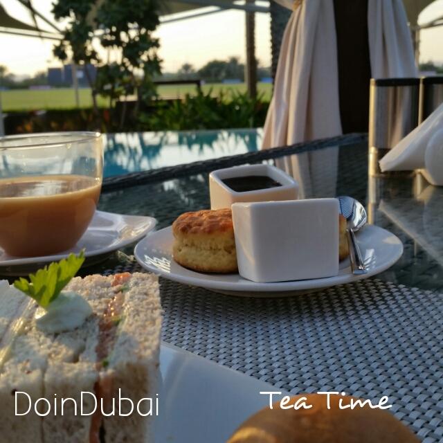 Fresh scones for tea at Desert Palm Dubai