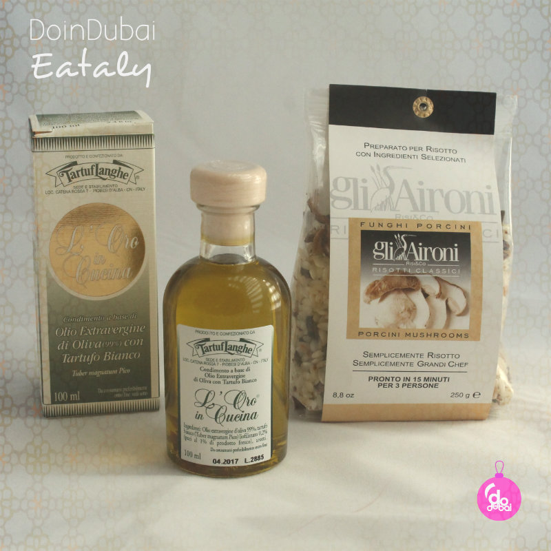 Eataly Olive oil and risotto rice bauble Edible Christmas Gifts DoinDubai