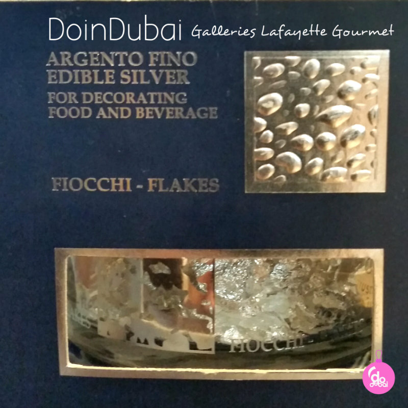 Edible silver flakes from Italy Edible Christmas Gifts DoinDubai