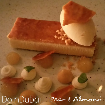 Pear and almond dessert