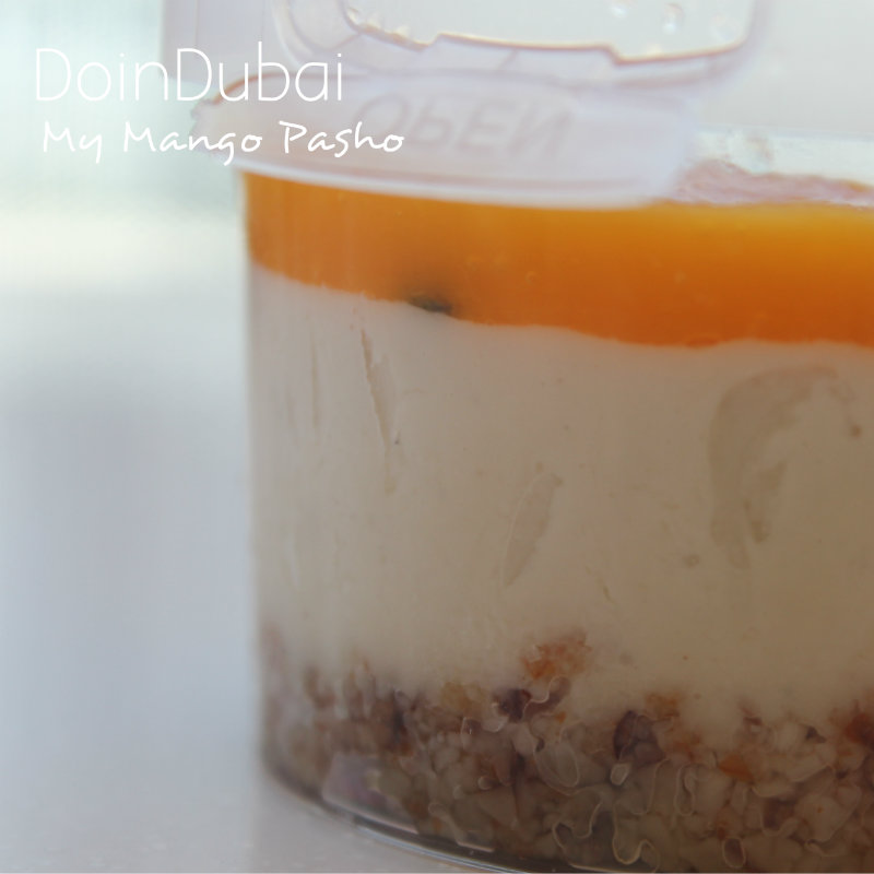 DoinDubai Mango Pasho vegan pudding