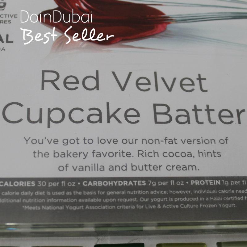 Yoghurtland Healthy eating red velvet batter doindubai