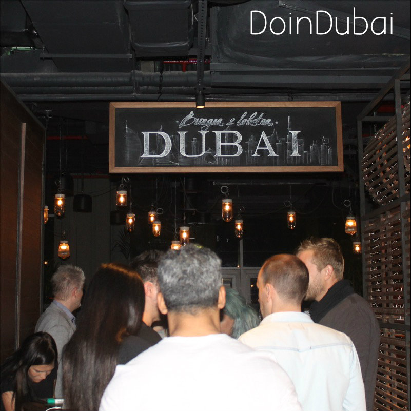 Busy on the First Night of Burger Lobster Dubai DoinDubai