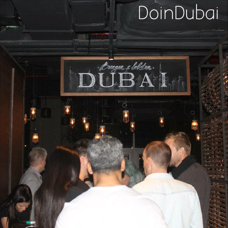 Busy on the First Night of Burger Lobster Dubai DoinDubai