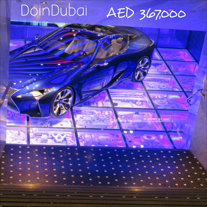 Tables? No There's a Lexus downstairs Intersect by Lexus Dubai DoinDubai