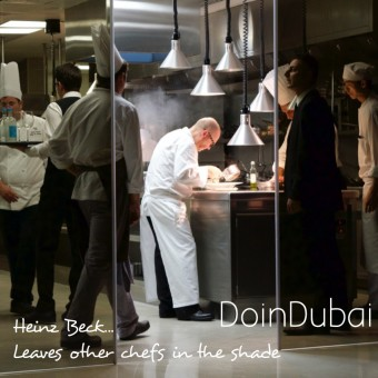 Heinz Beck Chef cooking
