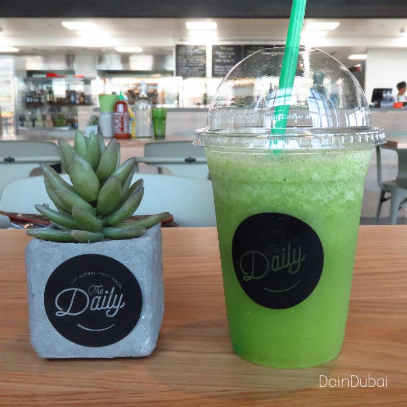 Rove hotels DIFC DoinDubai Green energizer drink