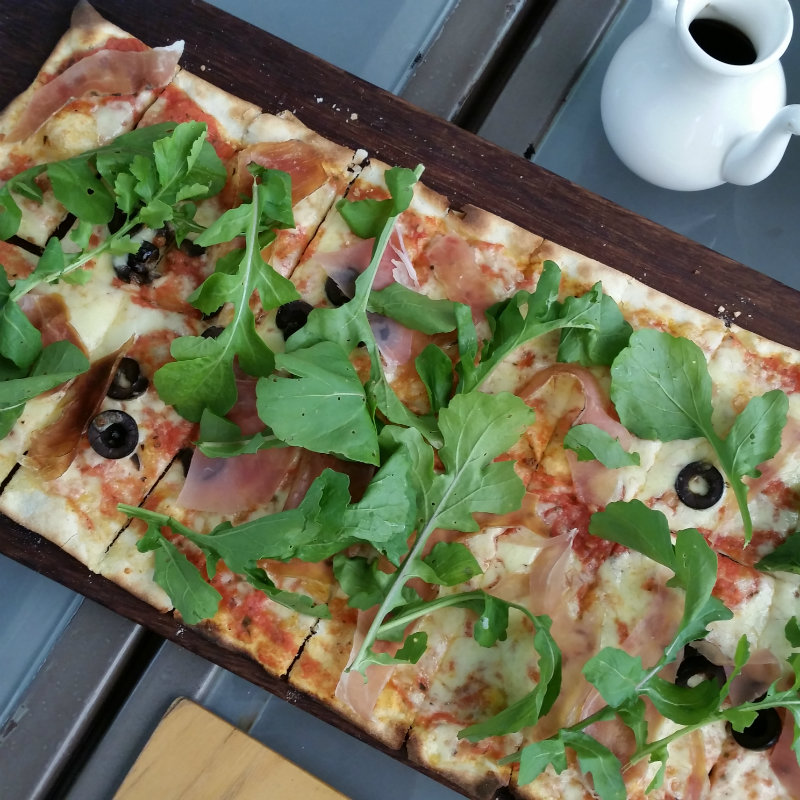 Visit Nairobi Ham and Rocket pizza zen garden