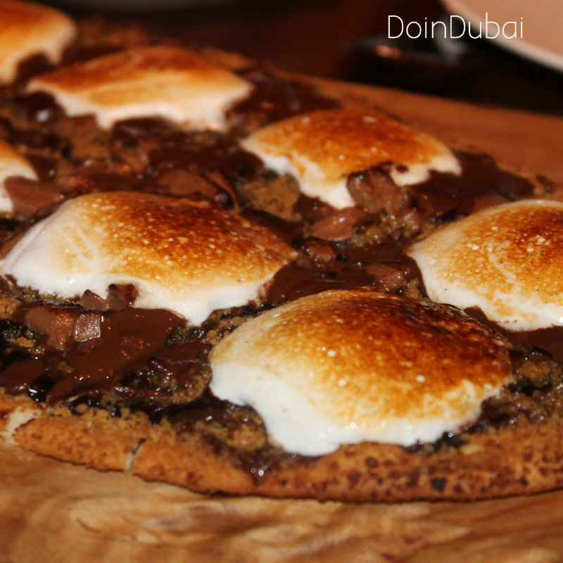 Catch Dubai Smores Pizza