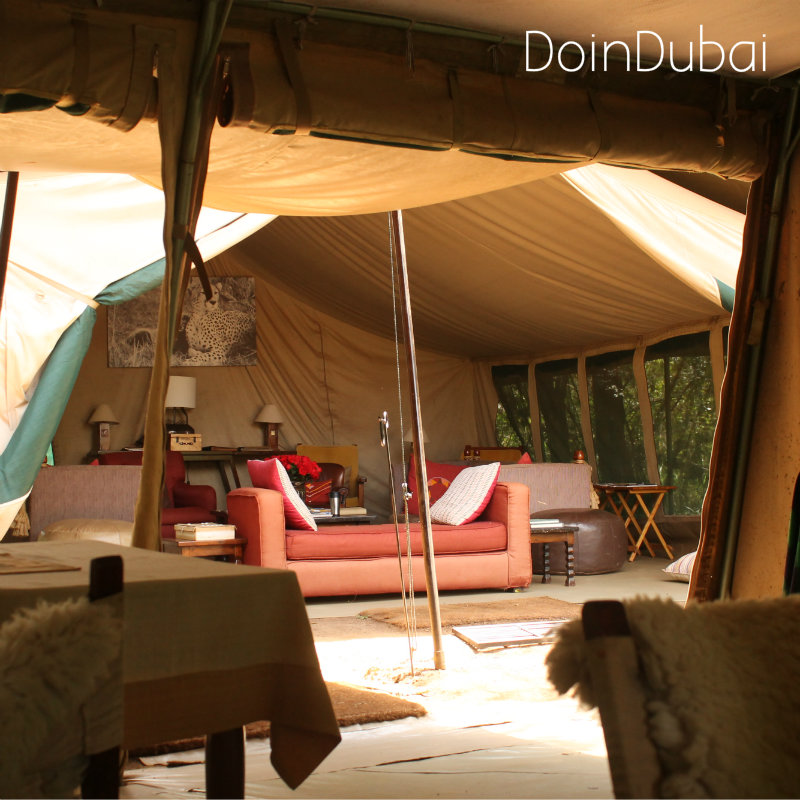 Mess and Dining room tents Nairobi Tented Camp