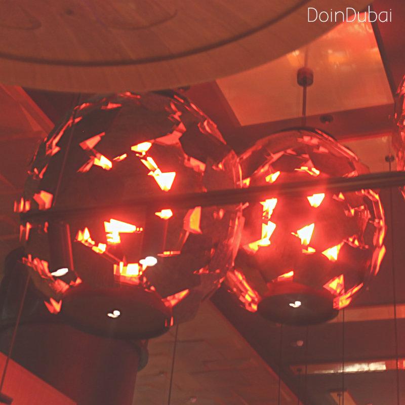 Novikov Dubai nights lanterns