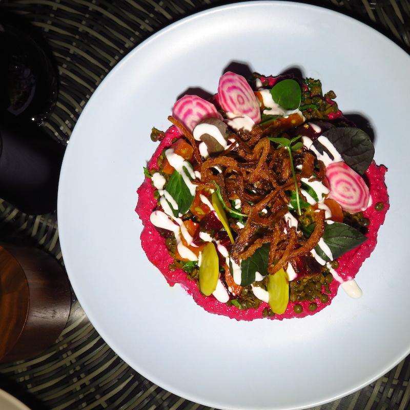 Chival at La Ville City Walk DoinDubai Beetroot salad