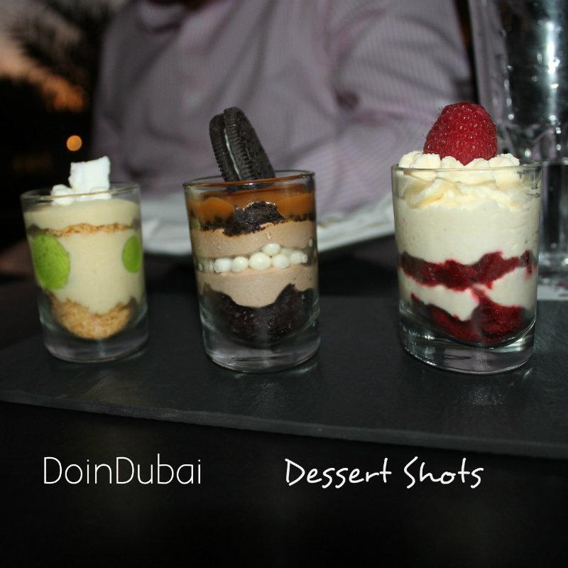 Agency Cheese and wine deal dessert shots DoinDubai
