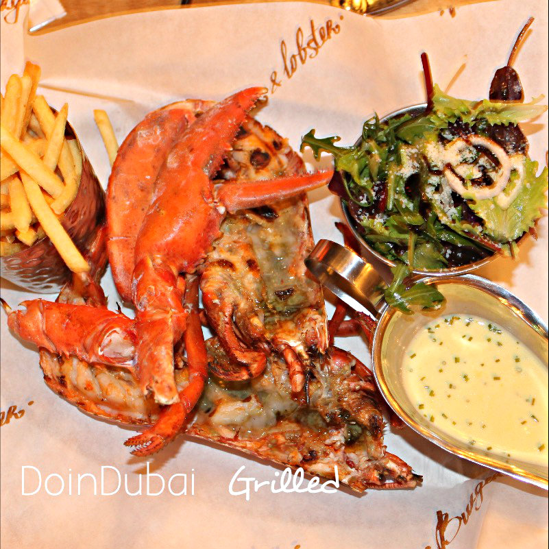 What do I get for AED127 at Burger Lobster Dubai