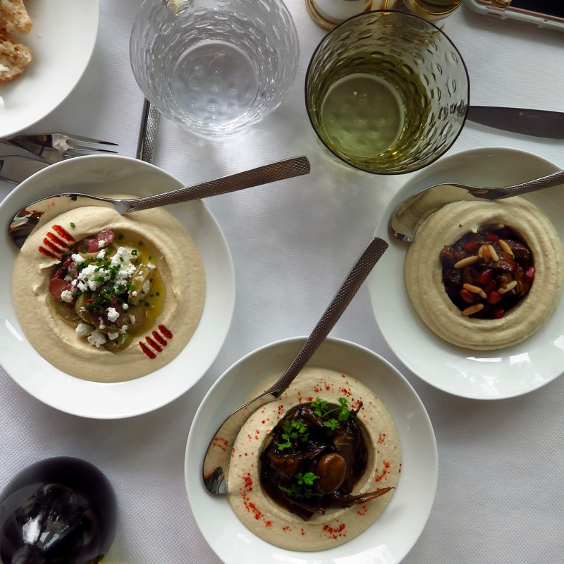 Address Boulevard hotel Dubai DoinDubai Hummus trio