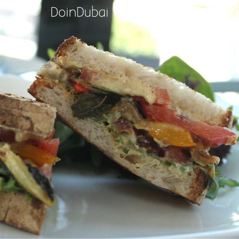 Barsalata Downtown Dubai DoinDubai vegan sandwich