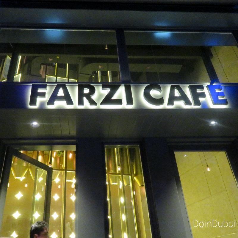 Farzi Cafe sign at City Walk DoinDubai