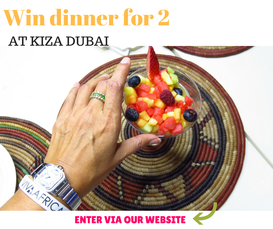 a meal for 2 at Kiza Dubai ( value AED 450 )