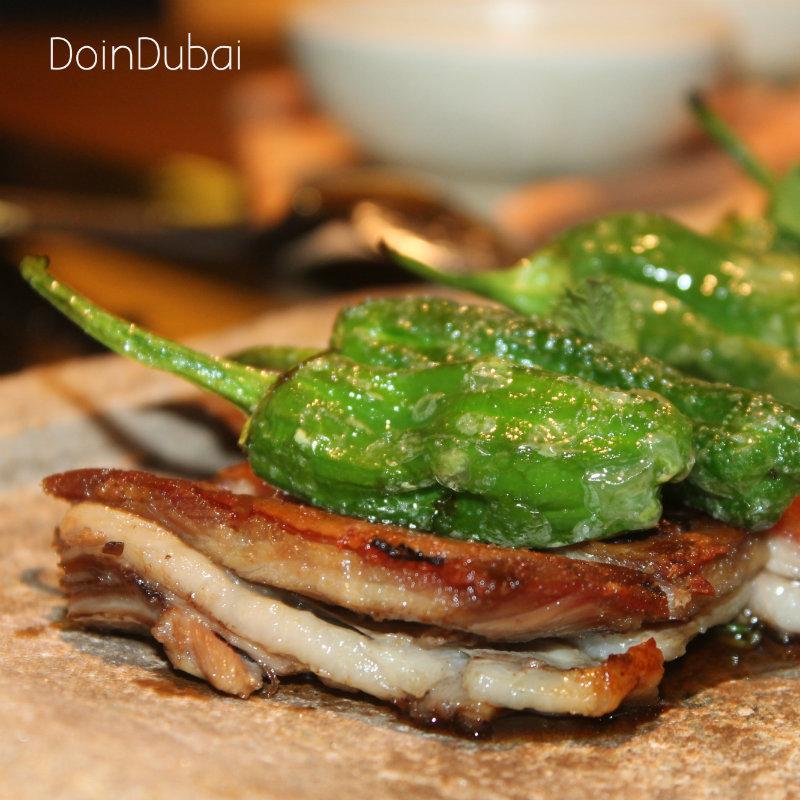 Best restaurant in Dubai Crispy lamb belly