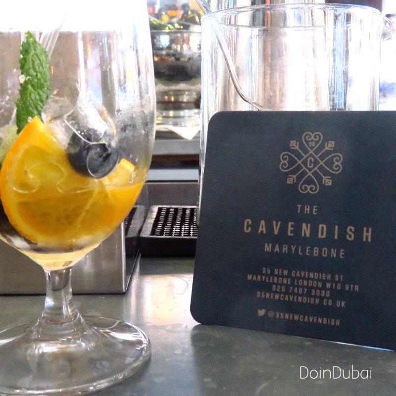 London's Best Cafe's The Cavendish bar mat 800