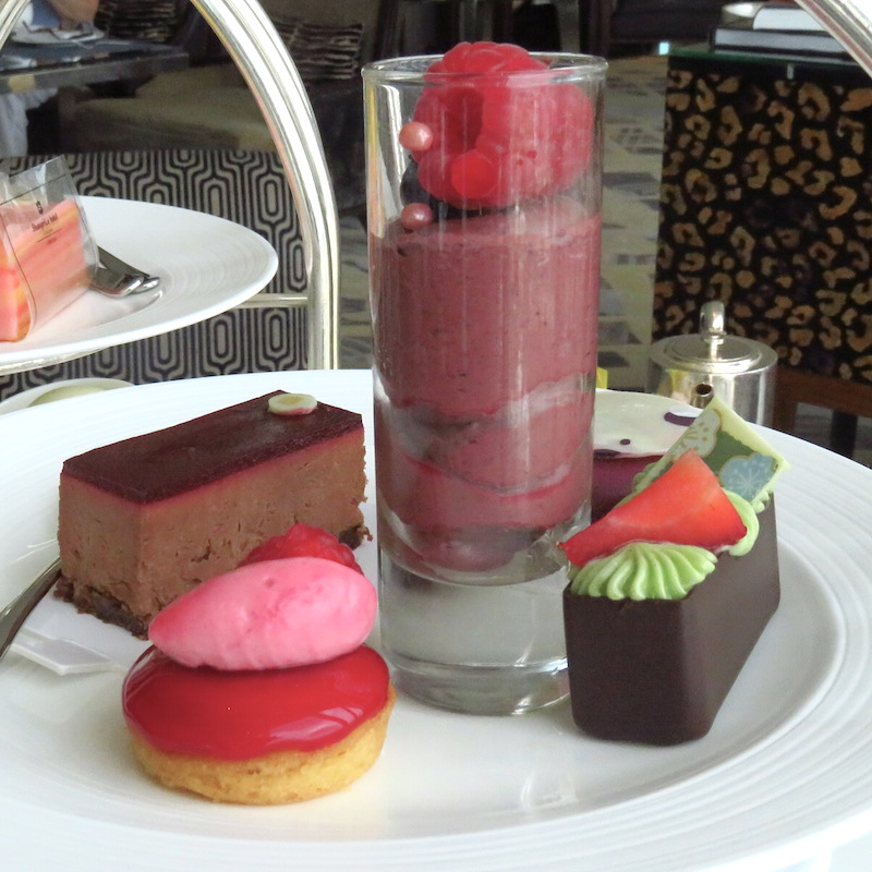 TEA AT THE SHANGRI LA THE SHARD DOINDUBAI sweets selection