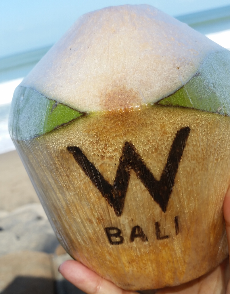 Bali Hotels DoinDubai W Bali Coconut water