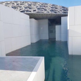 Inage ofLouvre Abu Dhabi Roof above water