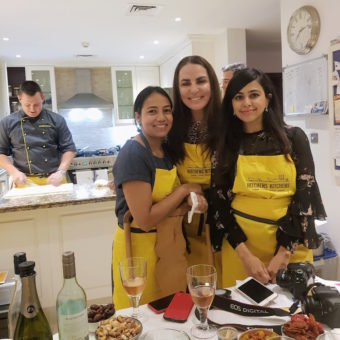 Friends at a Hitchens Kitchens dinner party