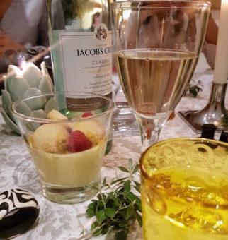 Hitchens Kitchens DoinDubai WIne with lemon posset dessert