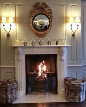 Image ofLuxury Boutique Hotels DoinDubai London Durrants FIreplace