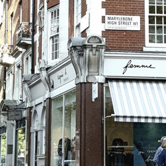 Image ofLuxury Boutique Hotels DoinDubai London Marylebone High Street sign