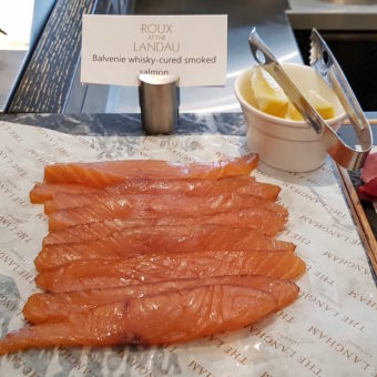 Image ofThe Langham DoinDubai Smoked Salmon at Roux at the Landau