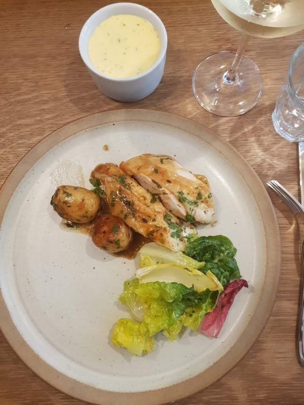 Cooking Lessons in London Sauce at the Langham DoinDubai chicken and salad