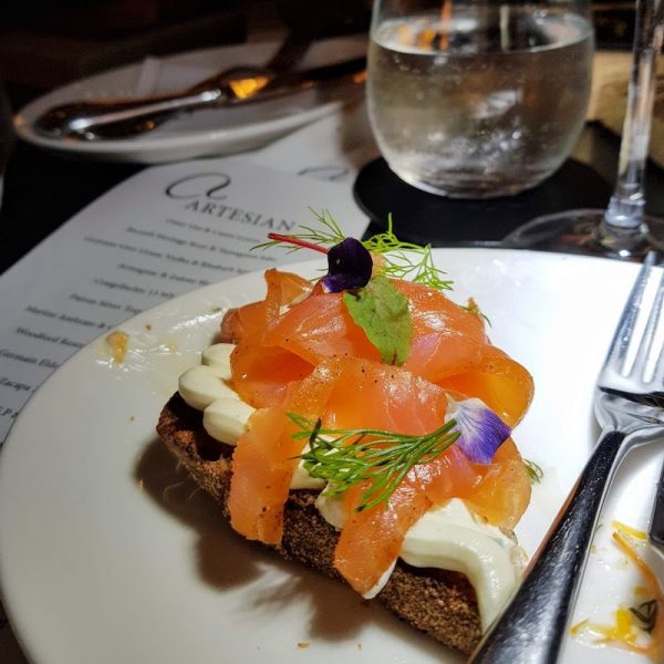 Cooking Lessons in London Sauce at the Langham DoinDubai salmon on rye bread