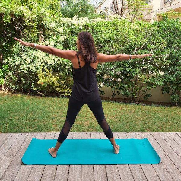 Staying home in Dubai Yoga in the garden doindubai