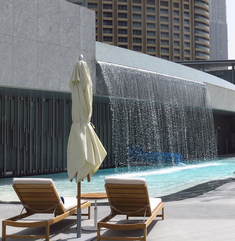 The Address hotel Dubai Ground floor pool