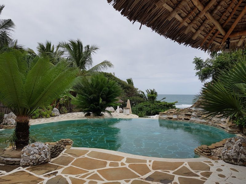 Image of private pool at Msambweni Beach House