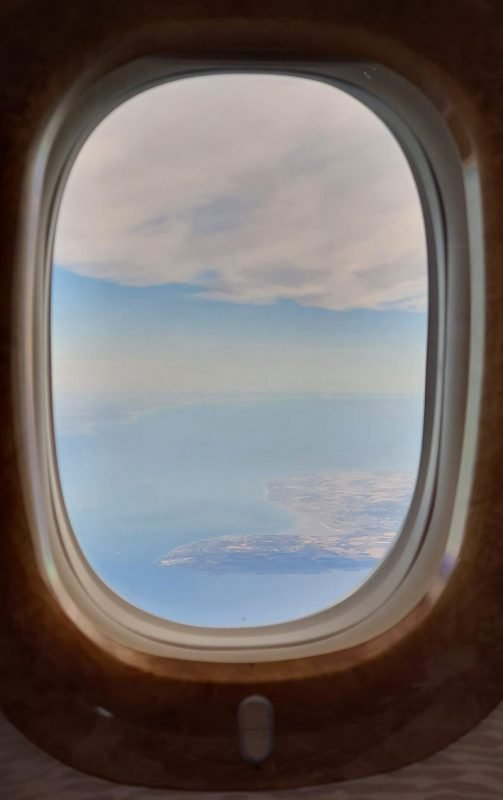 Travelling to London From Dubai DoinDubai Business Class Window
