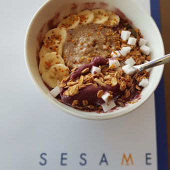 Image of Clean Eating Dubai Sesame acai bowl