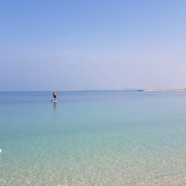 STAND UP PADDLE BOARDING IN DUBAI DOINDUBAI PADDLING OUT TO SEA