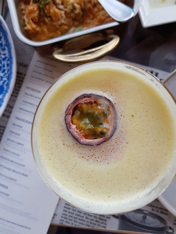 Passion fruit martini at Tasca brunch at the Mandarin Oriental DoinDubiai