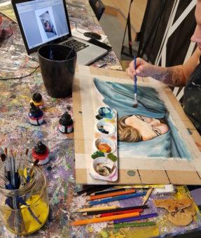 Al Serkal Avenue Dubai Jamjar painting