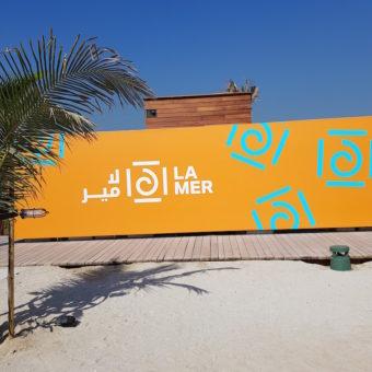 Image of La Mer Dubai sign DoinDubai