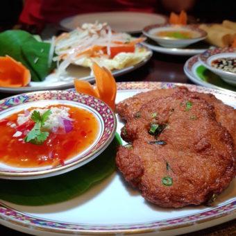 Image ofRetro Dubai Dining DoinDubai Benjarong Thai Fish Cakes