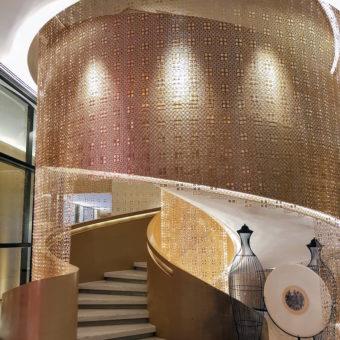 Image ofRetro Dubai Dining DoinDubai Long Teng Seafood Staircase
