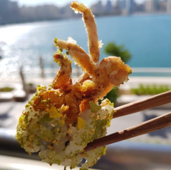 Image ofLouvre Abu Dhbai DoinDubai 99 Sushi Soft shell crab maki