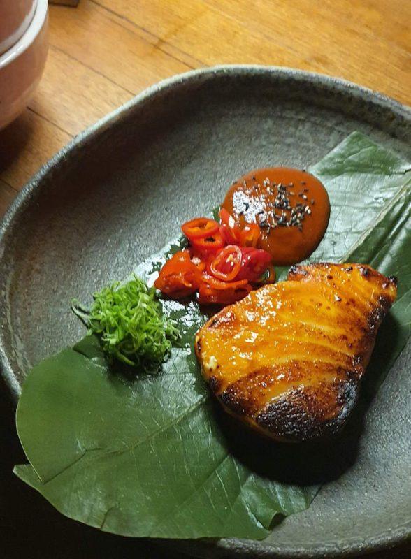 eating out after lockdown in dubai fish dish netsu mandarin oriental